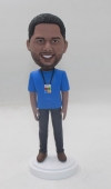 Personalized Bobblehead with badge