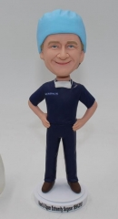 Custom surgeon bobblehead with surgical cap